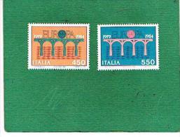ITALIA REPUBBLICA - UNIF. 1689.1690 - 1984 EUROPA - NUOVI **(MINT) - 6. 1946-.. República