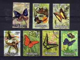 Malaysia - 1970 - Butterflies (Part Set) - Used - Malaysia (1964-...)