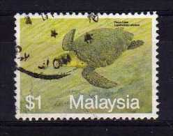 Malaysia - 1990 - $1 Marine Life/Hawksbill Turtle - Used - Malaysia (1964-...)