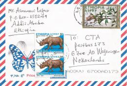 Ethiopia 2011 Addis Ababa Endemic Plant Catha Rhino Cover - Ethiopië