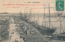 BONE - Quai Warnier - Publicité Recto Et Verso : Vignobles Des Moniques, Duzerville - Annaba (Bône)