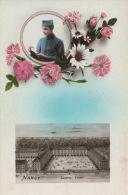 MILITARIA - NANCY - Jolie Carte Fantaisie Militaire Avec Fleurs Et Vue De La Caserne THIRY - Nancy