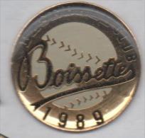 Baseball , Club  Boissettes , 1989 - Honkbal