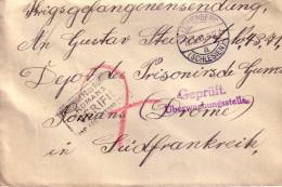 Kriegsgefangenen Sendung De Lowenberg Pour Dépot Des Prisonniers De Guerre De Romans Drome 1917 - Besetzungen 1914-18