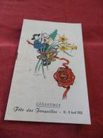 Programme Fete Des Jonquilles à GERARDMER - 10 & 11 Avril 1955. - Programs