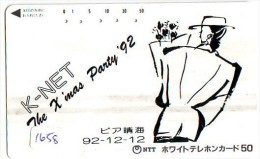Télécarte Japon NOËL (1658) MERRY CHRISTMAS  Phonecard Japan * Telefonkarte WEIHNACHTEN JAPAN * KERST NAVIDAD * NATALE - Weihnachten