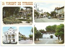 CPSM Multivues St Vincent De Tyrosse 40 Landes Centre Ville Mairie Rue Principale Arènes édit Cely N°6463 Non écrite - Saint Vincent De Tyrosse