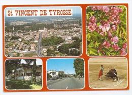 CPSM Multivues St Vincent De Tyrosse 40 Landes Vue Générale Centre Ville Arènes édit Cely N°6463 Non écrite - Saint Vincent De Tyrosse