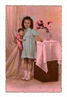 RP  Cilh & Doll Toy Portrait 1910-30s - Games & Toys