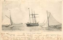 B-13-3435 : Carte De Bretagne  : Etude De Yatchs Et Régates - Voiliers