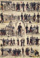 MILITARIA MILITAIRE - LOT De 2 Cartes Illustré Artillerie De Forteresse Et Soldats En 28 Activités Canon - Régiments