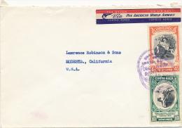 CARTAGO / Costa Rica - 1951 , Brief Nach Modesto / USA - Costa Rica