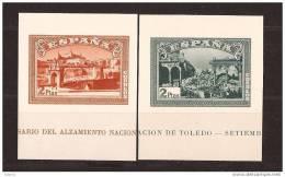 ES838-L4006TARP.España Spain Espagne SELLOS HOJAS SIN DENTAR DEL ALZAMIENTO 1937 (Edsh838/9**)sin Charnela LUJO RARO - Puentes