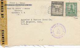 ESCUINTLA / GUATEMALA - 1943 , Nach Los Angeles - Guatemala