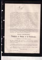 MOERZEKE GAND Adelaïde De NIEULANT Et De POTTELSBERGHE 1802-1878 Doodsbrief T'SERCLAES De NORDERWYCK - Décès