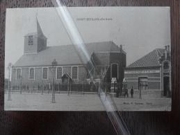 """Oost Eeklo Kerk  """"In´ Nieuw Zicht """" By R.De Vos.Barbier (+ Cafe??) Puntstempel St Niklaas 1913-Eecloo - Eeklo"""