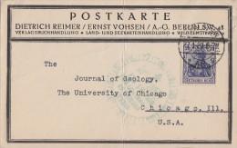 DR Karte EF Minr.87II Berlin 27.1.20 Gel. In USA - Allemagne