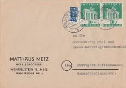 Bizone Brief Mef Minr.2x 101 Wendelstein 4.4.49 - Bizone