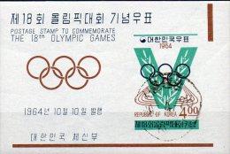 Stadion Olympiade Tokio 1964 Korea Block 194 O 6€ Leichtathletik Foglietto Sport M/s Bloc Olympic Sheet Bf South Corea - Korea, South