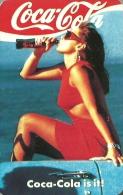 COCA-COLA * SOFT DRINK * WOMAN * GIRL * SEXY * EROTIC * MISKOLC * CALENDAR * ML 1989 * Hungary - Calendarios