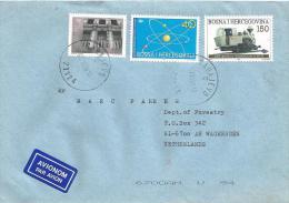 Bosnia Herzegovina1997 Sarajevo Railways Train Godina Physics Discovery Electrons Cover - Bosnia And Herzegovina