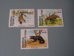 ==  Congo Tiere 1983  A 930 C 930  RRR    ** MNH - Kongo - Brazzaville