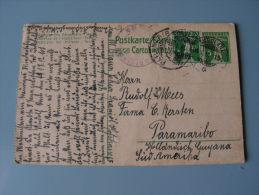 == CH Karte 1918  Paramaribo Süd Amerika - Suisse