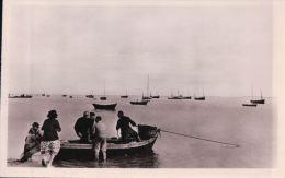 REVILLE Départ Pour La Pêche En Compagnie D'estivants - France