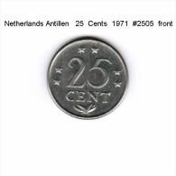 NETHERLAND ANTILLES   25  CENTS  1971  (KM # 11) - Netherland Antilles