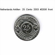 NETHERLAND ANTILLES   25  CENTS  2003  (KM # 35) - Netherland Antilles