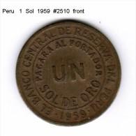 PERU    1  SOL  1959  (KM # 222) - Peru