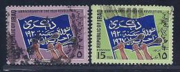 Iraq, Scott # 437-8 Used Flag, Hands, 1967 - Iraq