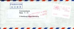 Japan,  Luftpostbrief Nach Hamburg/Germany. Mit ATM. Siehe Bild. - Briefe U. Dokumente