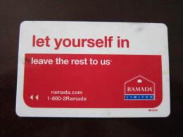 Hotel Key Card,Ramada,not Very Clean - Tarjetas Telefónicas
