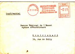 Saarbrucken 1949 - Kredit Bank - EMA - Saar Sarre - Unclassified