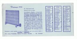 """Buvard - Chauffage """"Dimplex"""" - Bruxelles 1958 Avec Calendrier, 3 Mois (sf73) - C"""