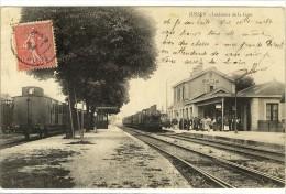 Carte Postale Ancienne Jussey - Intérieur De La Gare - Chemin De Fer - Other Municipalities