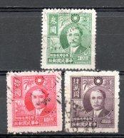 China Chine : (5041) 1947-8 Taiwan - SG43,46,64(o) - Non Classificati