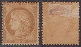 *PROMO* 10c Siège Neuf * Bistre-brun (Y&T N° 36a, Cote 1000€) - 1870 Siège De Paris