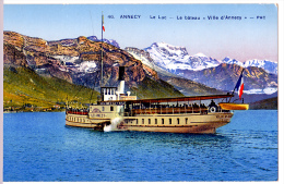 Annecy (Haute-Savoie)  3 Aspects Avec Le Lac.    (LES 3 CARTES) - Annecy