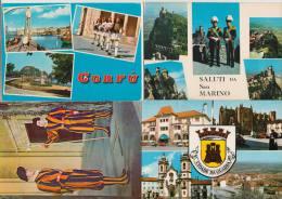 8 POSTCARDS - GUARDS / WACHT PARADE / GUARDIA - Europe/Europa  (3 Scans) - Postkaarten