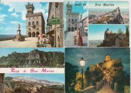 7 POSTCARDS : Republica Di SAN MARINO  (3 Scans) - Postkaarten