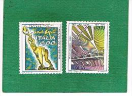 ITALIA REPUBBLICA - UNIF. 1991.1992 - 1991 PATRIMONIO ARTISTICO E CULTURALE ITALIANO  - NUOVI **(MINT - 6. 1946-.. Repubblica