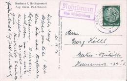 Sw Ansichtskarte 1940 Mit Landposstempel  Rohrbrunn über Aschaffenburg - Briefe U. Dokumente