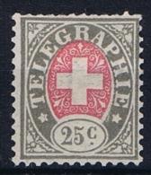 Switserland/Schweiz:  1868 Mi 1 Not Used (*) - Telegrafo