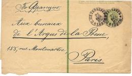 LCIRC5 - EMPIRE RUSSE - BANDE PUR JOURNAUX 2K VERT 177x444mm VOYAGEE - 1857-1916 Impero