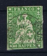 Switserland/Schweiz:  1854 Yv 30 Vert