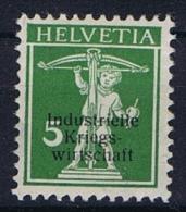Switserland/Schweiz:  Dienst  1918  Dünner Aufdruck Mi Block 2 I, MH/*, Signed