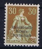 Switserland/Schweiz:  Dienst  1918  Dünner Aufdruck Mi 8 I, MH/*