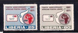 Liberia 1971 SC# 583-584 - Liberia